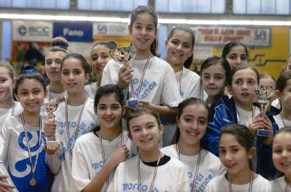 Ginnastica artistica, le ragazze di Mombaroccio conquistano il gradino più alto del podio