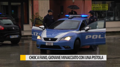 Choc a Fano, giovane minacciato con una pistola – VIDEO