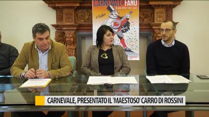 Carnevale, presentato il maestoso carro di Rossini – VIDEO