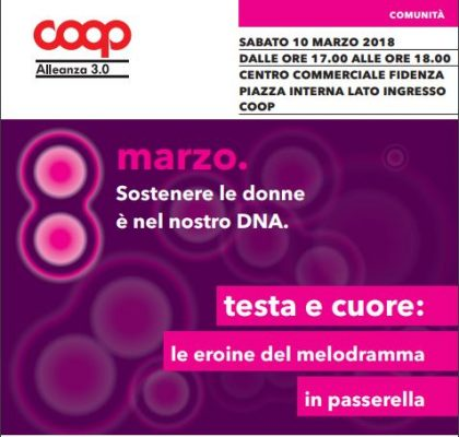 Per l'8 marzo Coop alleanza 3.0 dona 30 mila euro a fondazione Umberto Veronesi per le cure dei tumori al seno