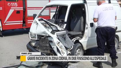Grave incidente in zona CODMA, in due finiscono all'ospedale – VIDEO