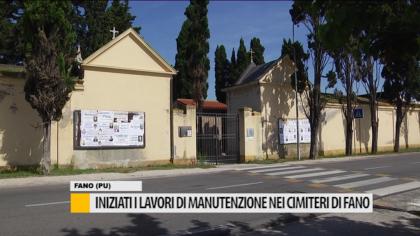 Iniziati i lavori di manutenzione nei cimiteri di Fano – VIDEO
