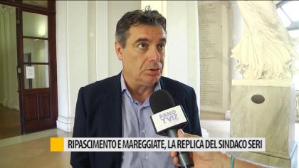 Ripascimento e mareggiate, la replica del sindaco Seri – VIDEO