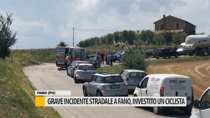 Grave incidente stradale a Fano, investito un ciclista – VIDEO