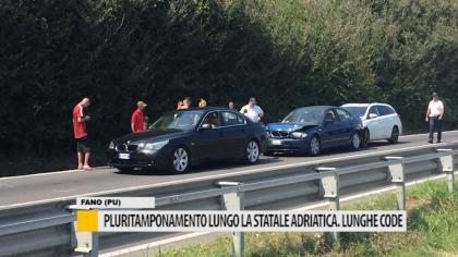 Pluritamponamento lungo la statale adriatica. Lunghe code – VIDEO