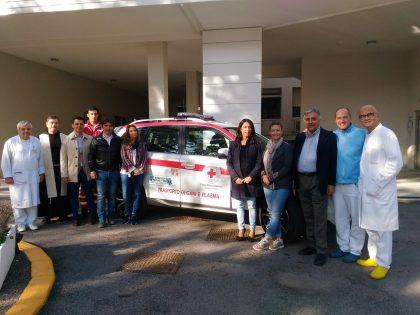 Inaugurato il nuovo mezzo della Croce Rossa per il trasporto di organi e plasma