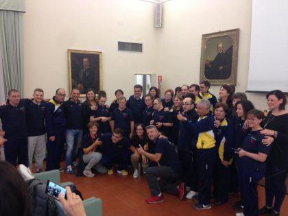 Sport, accolti in Comune i campioni del Centro Itaca di Fano