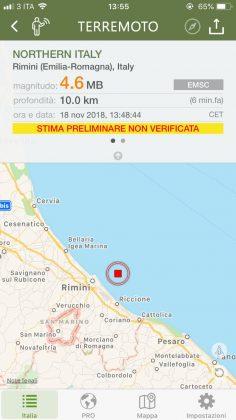 Scossa di terremoto avvertita anche nelle Marche