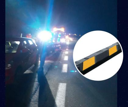 Cordoli in mezzo alla strada. Tragedia sfiorata in Superstrada. Decine di auto danneggiate – VIDEO