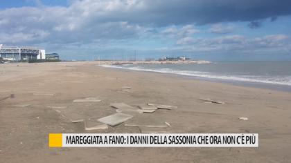 Mareggiata a Fano: i danni della Sassonia che ora non c'è più – VIDEO