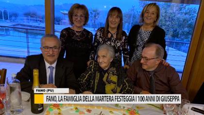 La famiglia della Martera di Fano festeggia i 100 anni di Giuseppa – VIDEO