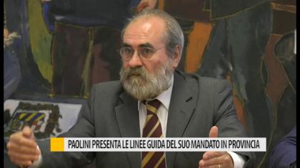 Il presidente Paolini presenta le linee guida del suo mandato in provincia – VIDEO