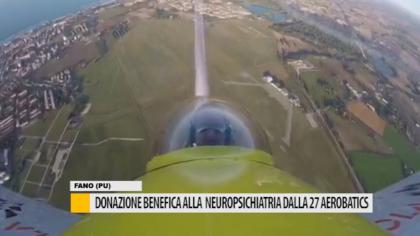 Donazione benefica alla neuropsichiatria dalla 27 Aerobatics – VIDEO