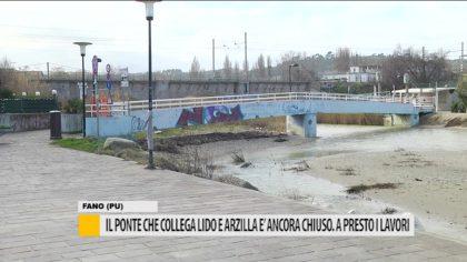 Il ponte che collega lido e arzilla è ancora chiuso. Presto i lavori  – VIDEO