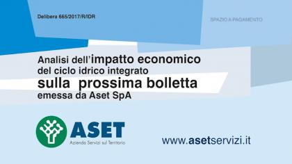 Analisi dell'impatto economico del ciclo idrico integrato sulla prossima bolletta emessa sa Aset SpA (marzo 2019)
