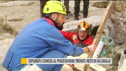 Esplorati i cunicoli al Pincio di Fano: trovati i resti di un cavallo – VIDEO