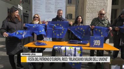 """Festa del patrono d'europa, Ricci:""""Rilanciamo i valori dell'unione"""" – VIDEO"""