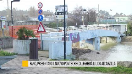 Fano, presentato il nuovo ponte che collegherà il lido all'arzilla – VIDEO