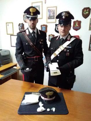 Fermato con la drogaa Orciano, è stato arrestato dai Carabinieri di Terre Roveresche.