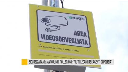"""Sicurezza Fano, Marcolini e Pollegioni: """"più telecamere  e agenti di Polizia"""" – VIDEO"""