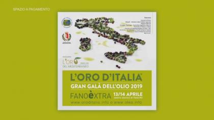 L'Oro d'Italia Gran Galà dell'olio 2019 – Fanoèxtra (13 aprile 2019)