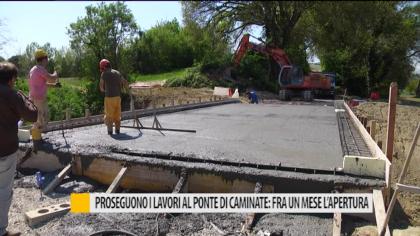 Proseguono i lavori al ponte di Caminate: fra un mese l'apertura – VIDEO