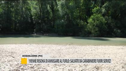 19enne rischia di annegare al furlo: salvato da carabiniere fuori servizio – VIDEO