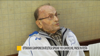 Ottaviani campione di atletica spegna 103 candeline, paese in festa – VIDEO