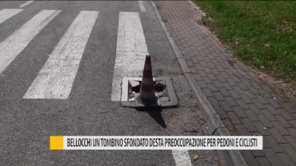Bellocchi, un tombino sgretolato desta preoccupazione per pedoni e ciclisti – VIDEO