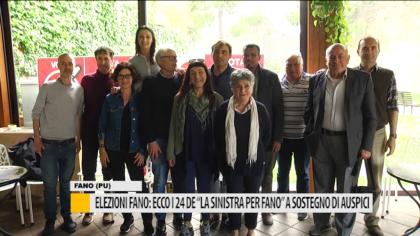 """Elezioni Fano: ecco i 24 de """"La sinistra per Fano"""" a sostegno di Auspici – VIDEO"""
