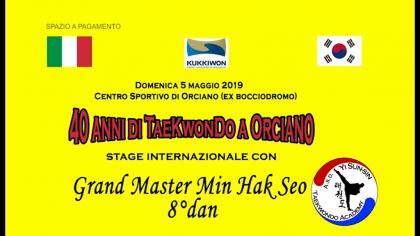 40 anni di Taekwondo a Orciano (5 maggio 2019)