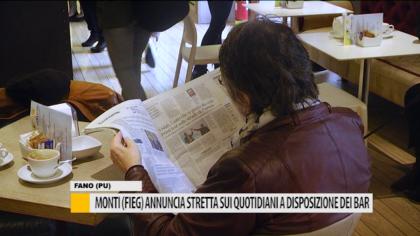 Monti (FIEG) annuncia stretta sui quotidiani a disposizione dei bar – VIDEO