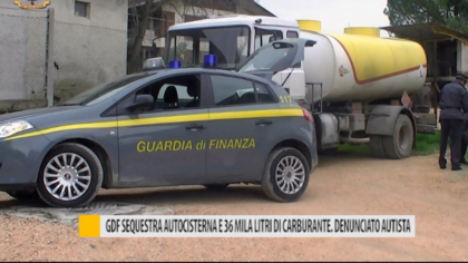 GDF sequestra autocisterna e 36 mila litri di carburante. Denunciato autista  – VIDEO