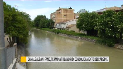 Canale Albani Fano, terminati i lavori di consolidamento dell'argine – VIDEO