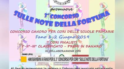 """400 bambini a Fano per il 3° concorso per cori """"Sulle note della Fortuna"""" – VIDEO"""