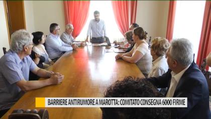 Mondolfo, Barriere antirumore a Marotta: comitato consegna 6000 firme – VIDEO