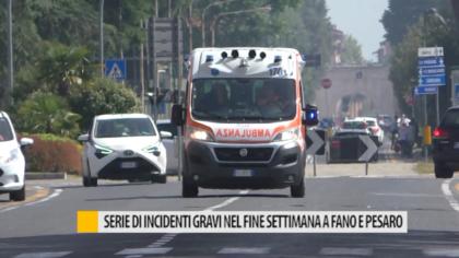 Serie di incidenti gravi nel fine settimana a Fano e Pesaro – VIDEO
