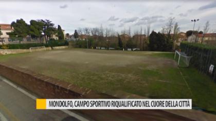 Mondolfo, campo sportivo riqualificato nel cuore della città – VIDEO