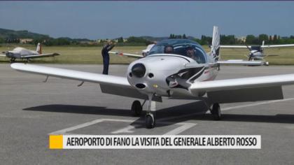 Aeroporto di Fano, la visita del generale Alberto Rosso – VIDEO