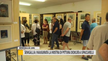 Senigallia: inaugurata la mostra di pittura dedicata a Spaccarelli – VIDEO
