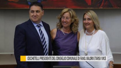 Cecchetelli presidente del consiglio comunale di Fano. Valori e Tarsi i vice – VIDEO