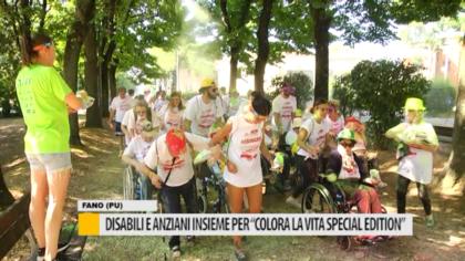 """Disabili e anziani insieme per """"Colora la vita special edition"""" – VIDEO"""