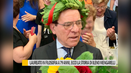 Laureato in filosofia a 79 anni, ecco la storia di Ileno Mengarelli – VIDEO