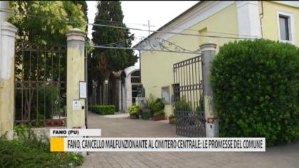 Fano, cancello malfunzionante al cimitero centrale: le promesse del comune – VIDEO