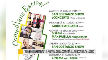 """""""Comedians Festival"""": il festival della comicità alla Rocca dal 16 luglio – VIDEO"""