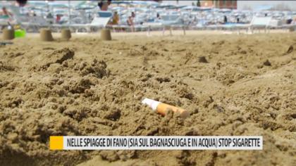 Nelle spiagge di Fano (sia sul bagnasciuga e in acqua) stop sigarette – VIDEO