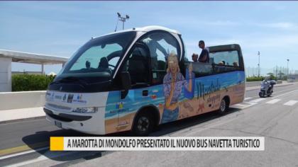 A Marotta di Mondolfo presentato il nuovo bus navetta turistico – VIDEO