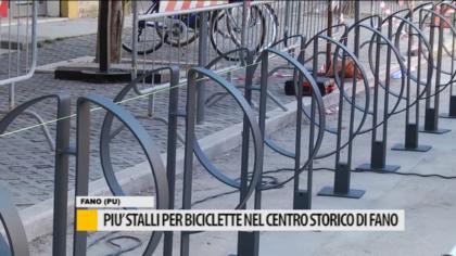 Più stalli per biciclette nel centro storico di Fano – VIDEO