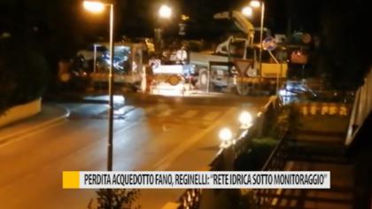 """Perdita acquedotto Fano, Reginelli: """"Rete idrica sotto monitoraggio"""""""
