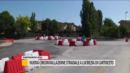 Cambio di viabilità, nuova circonvallazione stradale a Lucrezia – VIDEO